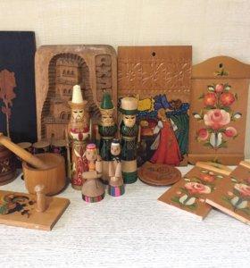 Картины, фигурки  и т. д. из дерева СССР