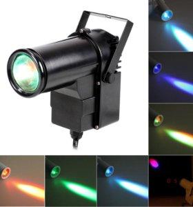 Световая пушка для зеркального шара цветная 10W