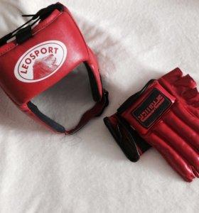 Шлем, перчатки