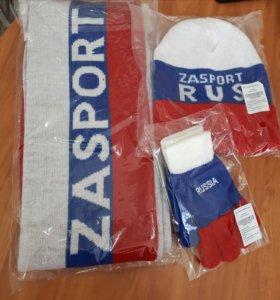 Набор спортивный шарф,шапка,перчатки.