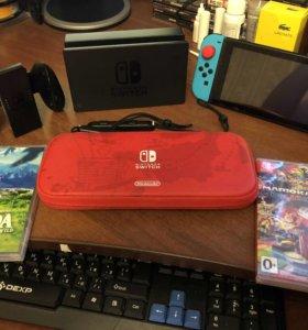 Nintendo Switch + Zelda + Mario Kart 8
