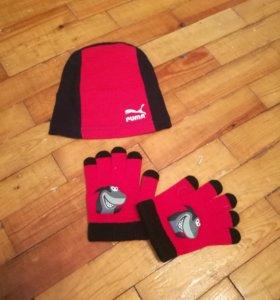 Шапочка и перчатки