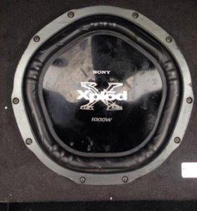 сабвуфер Sony XPlod 1000w и усилитель Pioner