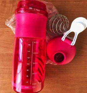 Бутылка шейкер с шариком для смешивания