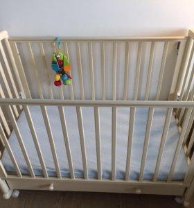 Детская кроватка Гандылян с матрасом