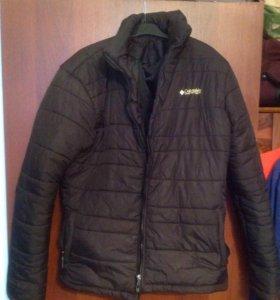 Мужская чёрная куртка на сентипоне 52-54р