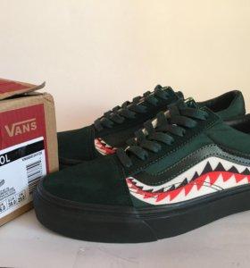 Кеды Vans Old Skool x Bape зеленые 36-46