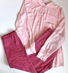 Блузка, брюки-чиносы