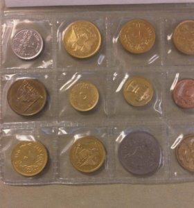 Набор монет Египта 1970х г.г., 1980г., 1992г.