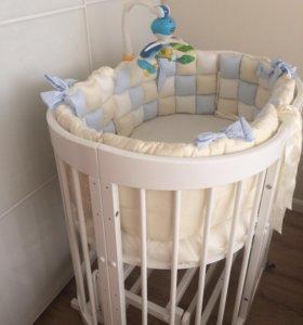 Бортики и одеяло  в детскую кроватку