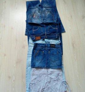 Джинсы и юбки
