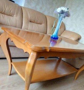 Диван кожаный + кресло реклайнер