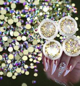 Стразы сваровски для дизайна ногтей маникюра