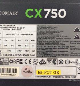 Блок Питания Corsair CX 750W