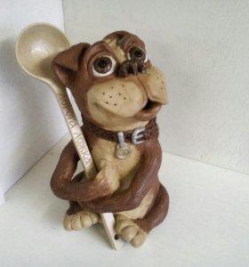 Керамика. Копилка. Пёс с ложкой.