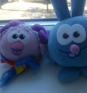 Мягкие игрушки Смешарики: Крош, Бараш