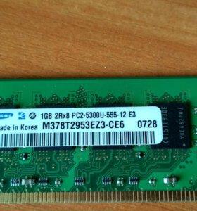 Оперативная память samsung 1GB DDR2