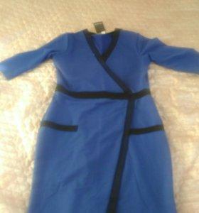 Новое трикотажное платье 50-52
