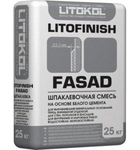 Шпатлевка ЛИТОКОЛ ЛИТОФИНИШ ФАСАД белая - 25 кг