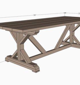 столы, скамейки
