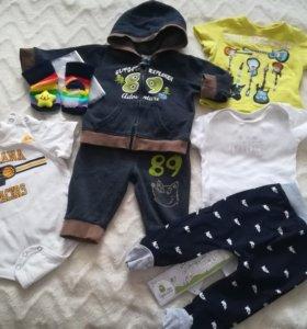 Пакет вещей для мальчика. Adidas Carter's Baby go