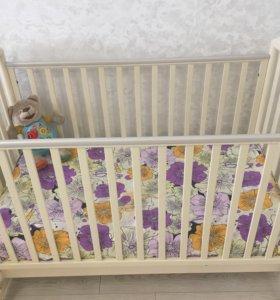Кровать Детская Papaloni с матрасом