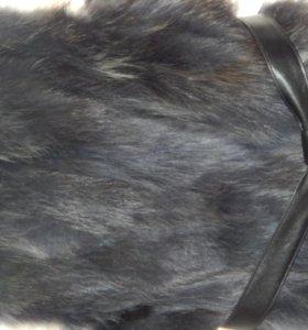 жилет мех лисицы