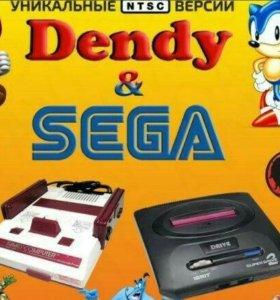 Игровые приставки Денди 8 бит и Сеги 16 бит