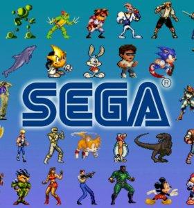 Игровые приставки Sega 16 бит и Денди 8 бит