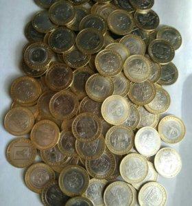 Биметаллические юбилейные 10 рублей