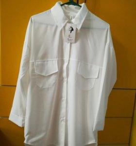 Новая женская длинная белая рубашка