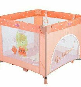 манеж Happy Baby Alex персикова цвета