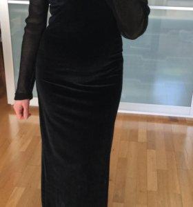 Велюровое вечернее платье