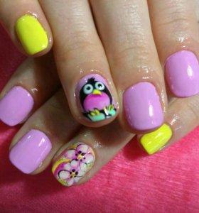 Рисую на ногтях
