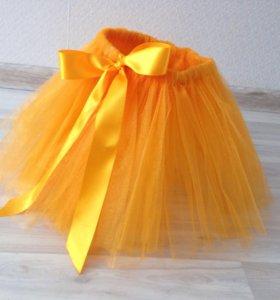 Оранжевая юбка. юбка-пачка. Туту