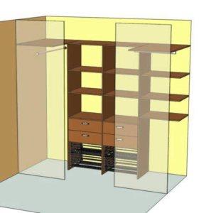 Шкафы , гардеробные