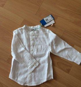 Рубашка для мальчика 86р новая