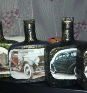 Бутылочки декоративные, функциональные, стекло