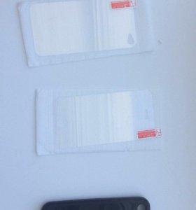 Защитное стекло на корпус и на экран 4s iPhone
