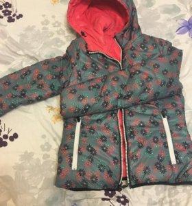 Пуховик- куртка ( двухсторонняя)