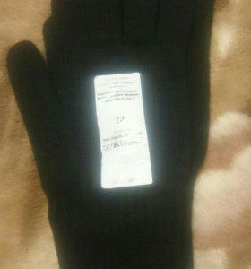 Перчатки чёрные 24 размер 2 пары