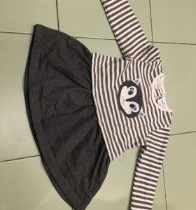 Тёплое новое платье Topomini 86 рост