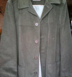 Вельветовая куртка 54размера
