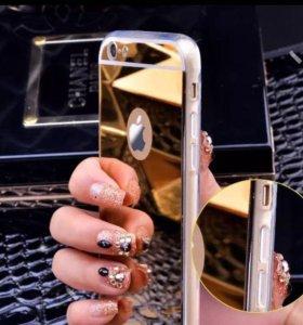 Зеркальный чехол для Айфона 6 , 6s, 5, 5s