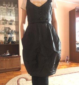 Платье под кожу 42-44