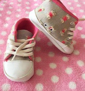Пинетки кроссовки на малышку