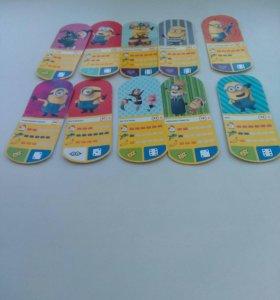 Карточки миньоны из магнита.