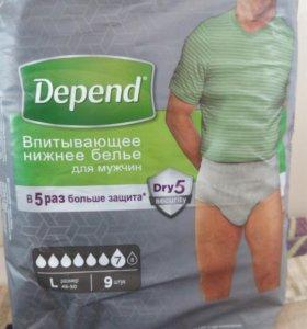 Впитывающие трусики Depend мужские размер L