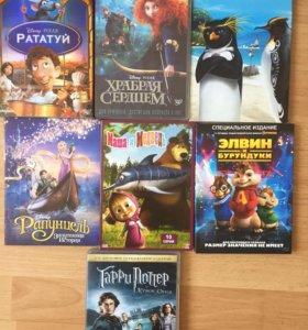 DVD диски мультики 8 шт