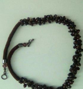 Ожерелье гранат